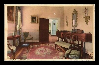 Dr Jim Stamps Us Music Room Mount Vernon Interior View Postcard Virginia