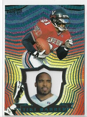1997 Pacific Invincible Platinum Blue #95 Tiki Barber New York Giants Rookie RC