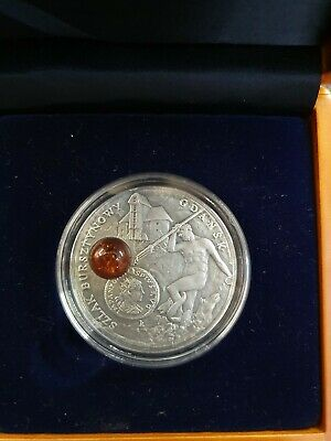 Niue Amber Route  Gdansk  $1 One Dollar  2008  Proof Silver Crown  Antique...