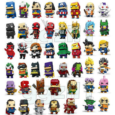 Superheros Batman Superman Iron Man Spiderman Hulk Ninja Building Blocks Figure