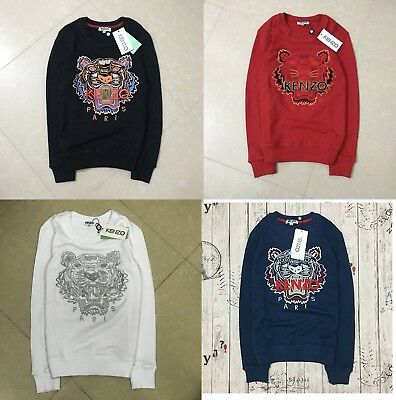e4f1df70 KENZO MENS WOMENS Tiger embroidery Crewneck Sweatshirt ...
