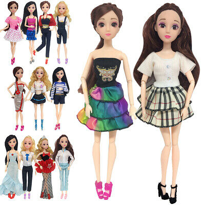 1/13 Set Handmade Clothes Dress Outfit for 11 inch Barbie Doll Tops Pants Shirts