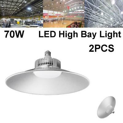 2PCS 70W LED High Bay Light Commercial Warehouse Factory Gym Lighting Shed Lamp