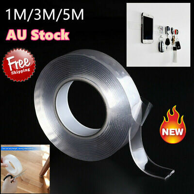 1/3/5m Double-sided Adhesive Nano Tape Sticker Washable Removable Tapes Gel Grip