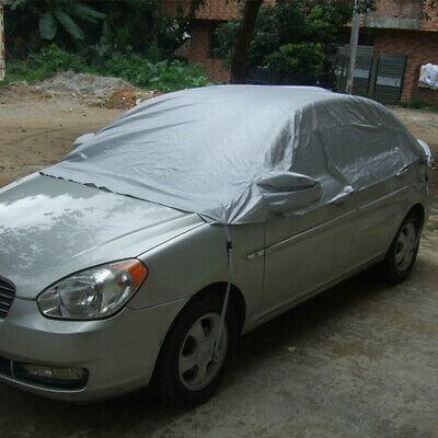 Universal Waterproof Outdoor Car Half Top Roof Cover Sun UV Rain Protection PVC