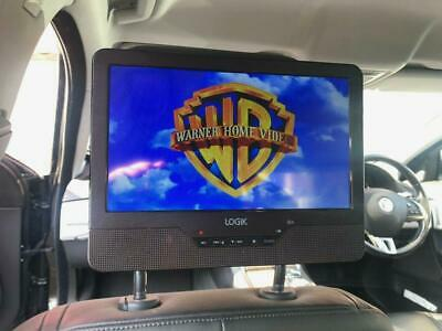 "9"" Headrest In Car Portable DVD Player Mounting Strap USB SD Slot AV In & Out"
