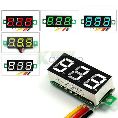 """0.28"""" 3-Wires LED Display Voltmeter Volt Panel Meter Red/Green/Blue/Yellow/White"""