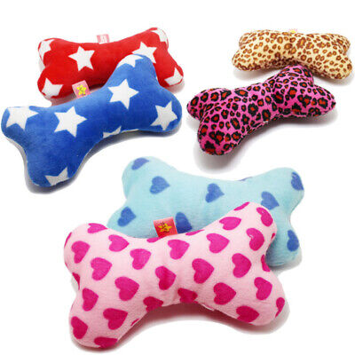 Lovely Bone Pet Dog Squeaky Toy for Small Dog Puppy Chew Play Strip Plush Toy