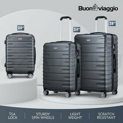 Buonviaggio 3PCS Luggage Suitcase Trolley Set Travel Storage Organizer TSA Case