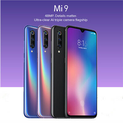 6.39'' Xiaomi Mi 9 4G Smartphone Snapdragon 855 6+128GB 4*Camera 48MP FHD+ Nero