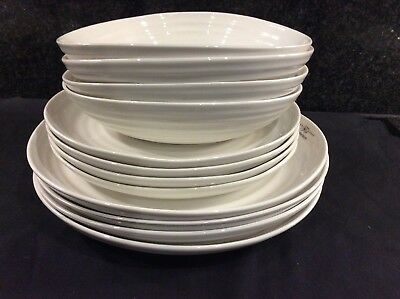 "Sophie Conran Portmeirion  12 Piece Coupe Set Dinner/8.5"" Plates Bowls New Boxed"
