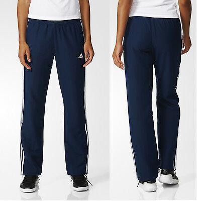 81d45086 adidas Team T16 Women's Navy Tracksuit Trousers Running Gym Sports Track  Pants