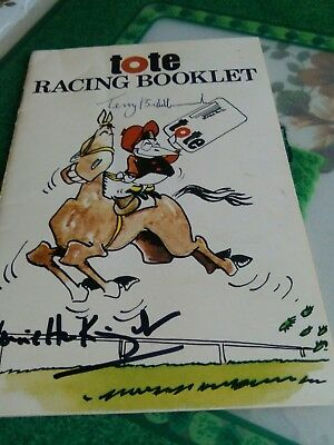horse racing booklet signed by terry biddecome and henrietta kinght