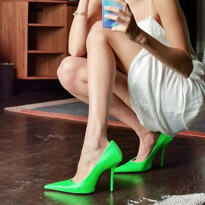 Sexy Women's Stilettos Extreme Pointed Toe Pumps Slip On High Heels Shoes Party