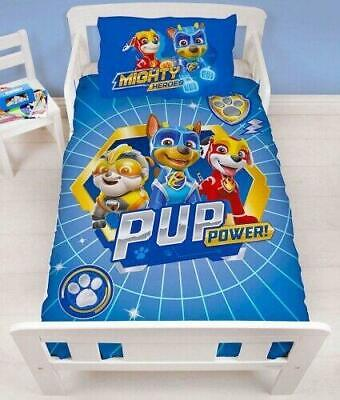 Paw Patrol Mighty Pups Junior Cot Duvet Cover Reversible Bedding Set