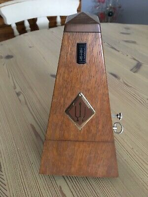 Oak Cased Metronome With Bell,lovely Condition Very Little Use