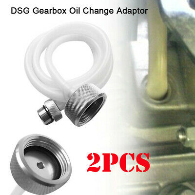 2pcs NEW DSG Gearbox Oil Change Adaptor, Oil Filling Gear inflation Hose 1500mm