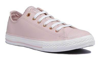 Converse 660020C Kids Rose Gold Leather Trainer Size UK 10 - 2