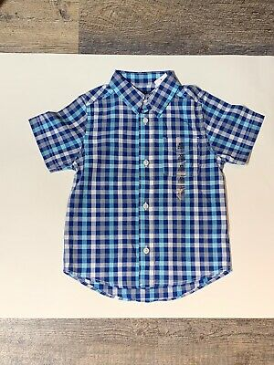 Children's Place Size 4T or XS Boys Dress Shirt Button up Short Sleeve NWT