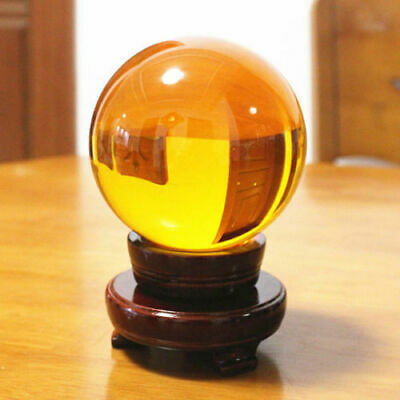 Yellow Crystal Photography Lens Ball Photo Prop Background Quartz Home Decor