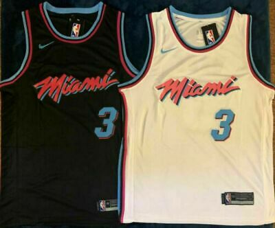wholesale dealer 5b599 f09b6 3 DWYANE WADE Miami Heat City Pink Stitched Jersey Mens ...