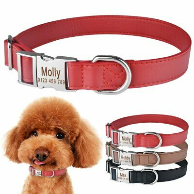 Custom Dog Collar Heavy Duty Buckle Personalised ID Name Tag for Small Large Dog