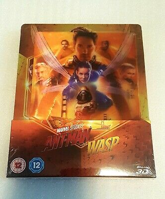 ANT-MAN AND THE WASP - Zavvi Exclusive 3D+2D Lenticular Blu Ray Steelbook Marvel