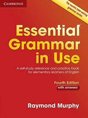 Essential Grammar in Use with Answers by Raymond Murphy Paperback NEW Book