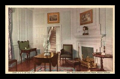 Dr Jim Stamps Us Mrs Washingtons Sitting Room Mount Vernon Virginia Postcard