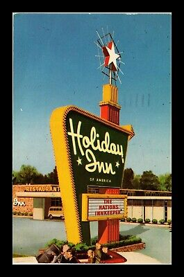 Dr Jim Stamps Us Menands New York Holiday Inn Curteichcolor Postcard 1975