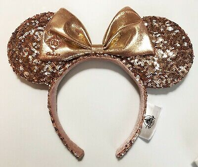 Walt Disney World WDW Club 33 EXCLUSIVE Rose Gold Minnie Mouse Ears RARE Mickey