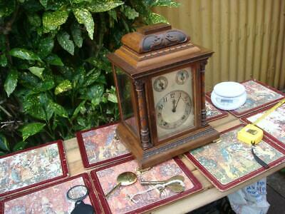 Antique Ting Tang  Bracket  Striking Mahogany Mantel Clock 8 Day W&H Movement