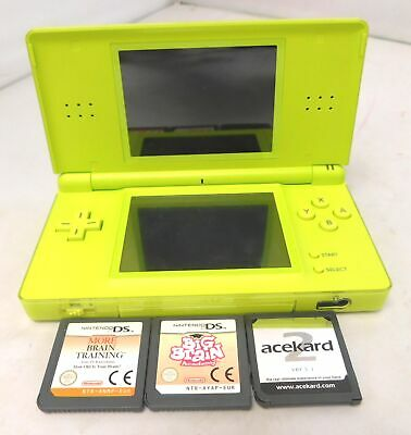 NINTENDO DS Lite Handheld Games Console Bundle With 3 Games - H10