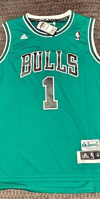 newest ed6b6 24242 DERRICK ROSE #1 Chicago Bull's Auto Adidas Basketball Jersey ...