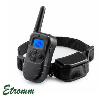 Remote Dog Pet Electric Shock Training Collar Waterproof Rechargeable 330Yard