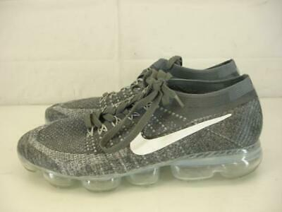 Mens sz 11 45 Nike Air Max Vapormax Flyknit Pure Platinum White Wolf Grey Shoes