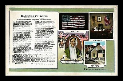 Dr Jim Stamps Us Barbara Fritchie John Greenleaf Whittier Postcard