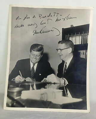 Vint Copy of Signed Photo of John F. Kennedy and Secretary of State Joe Burdette