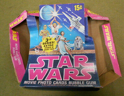 #T109.   1977  Topps  Star Wars  Bubblegum Cards Counter Display Box