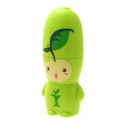 Green Portable Small Cartoon Apple Print Battery Power Mini Plastic Fan