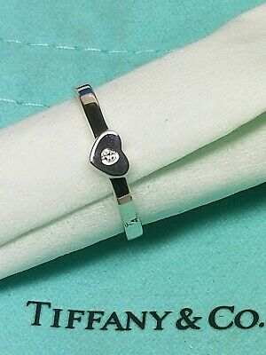 052e7d25dbd25 Tiffany & co. Paloma Picasso Sterling Silver Modern Heart W/Diamond Size 7.5