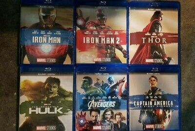 Marvel Fase 1 Set (Blu-Ray) Avengers Iron Man Captain America Hulk Thor uno