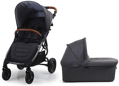 Valco Baby Snap 4 Trend Lightweight Stroller w/ Bassinet Travel System Charcoal