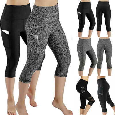 Women Yoga Pants Fitness Leggings Workout Activewear Exercise Sports Trouser AU