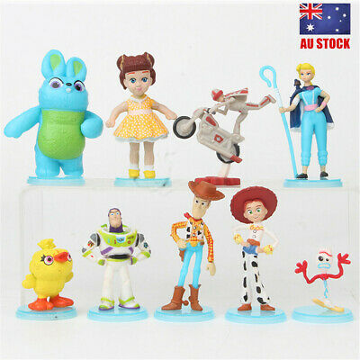 Toy Story Buzz Woody Jessie Lightyear 9 PCS Action Figure Cake Topper Doll Toys
