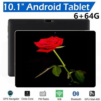 "10.1"" Android 6.0 Octa-Core 4G 64GB Tablet PC Dual SIM 3G WIFI Bluetooth Lot LO"