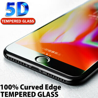 Pour iPhone X XS MAX XR 8 7 6 5D Full Cover Real Tempered Glass Screen Protector