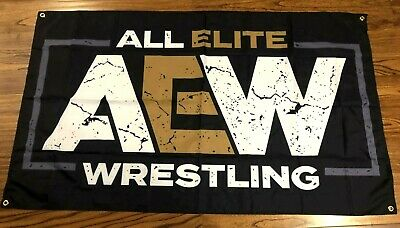 Aew All Elite Wrestling Flag Banner Cloth Poster Sign 3' X 5'