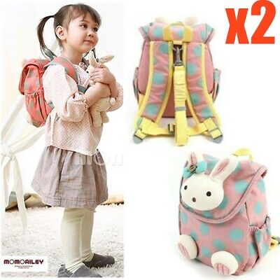 2x Girls Baby Toddler Kids Animal Safety Harness Strap Bag Backpack with Reins