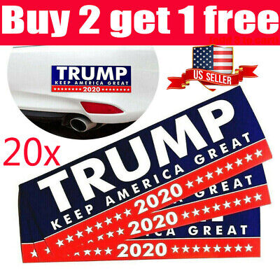 20Pcs Donald Trump Bumper Sticker 2020 Keep America Great Free Shipping USA ~om